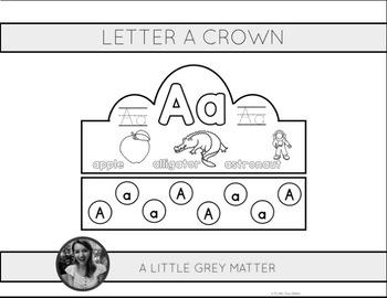 Letter A Crown