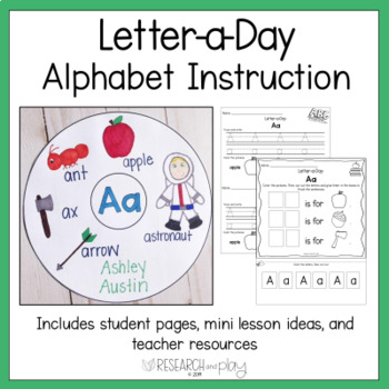 Letter A Day Alphabet Instruction