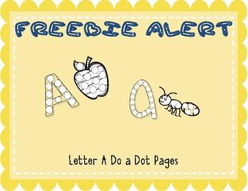 Letter A Do a Dot Freebie