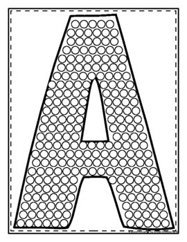 Letter A Dot Painting Activities