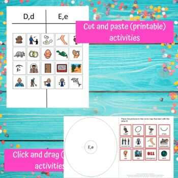 Letter of the Week Letters A-E Bundle Unit for Special Education