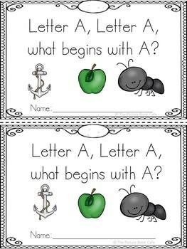 Letter A Emergent Reader