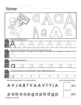 Letter A Handwriting Practice - Using Handwriting House