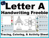 Letter A Handwriting Sample Pack
