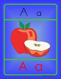 Letter A Handwriting and Recognition Practice