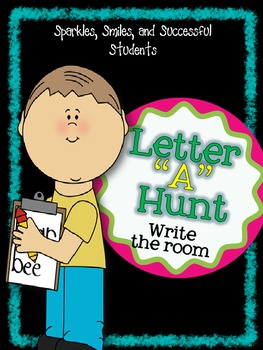 "Letter ""A"" Hunt - FREE Write the Room Activity"
