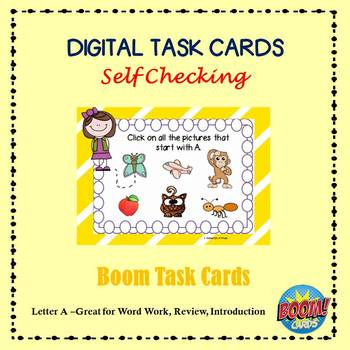 Letter A Identification  Boom Cards with Sound