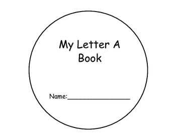 Letter A Interactive Book