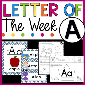 Letter A - Letter of the Week - Letter of the Day