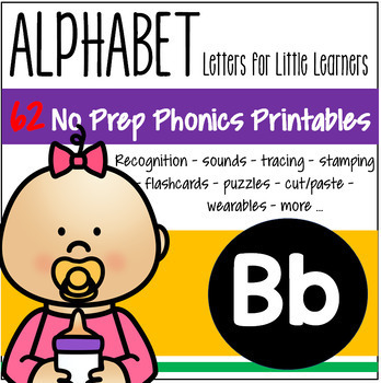 Alphabet B Letter of the Week Phonics Recognition, Sound, Tracing & Craftivities