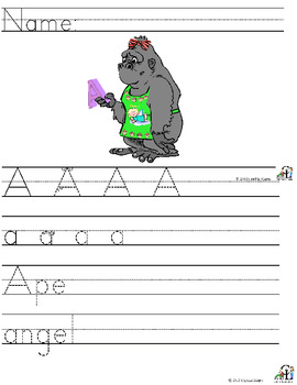 Letter A - Long Sound  Alliteration Set