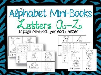 Alphabet Mini-Books Learning Letters A-Z
