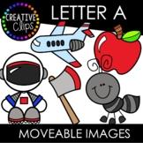 Letter A Moveable Images: Alphabet Clipart
