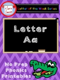 Letter A No Prep Printables