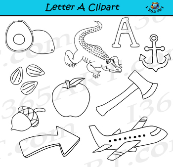 Letter A Clipart – Learning The Alphabets