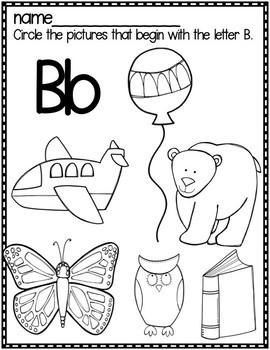 Letter B Packet