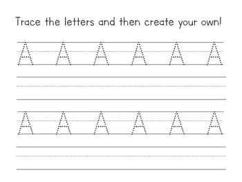 Letter A Packet