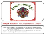 Letter A Picture Sentences for PECS or Early Readers