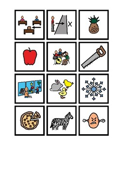 Letter A Picture Sort (Beginning, Middle & End)
