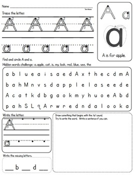 Letter A Practice