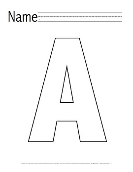 Letter 'A' Pre-K Packet