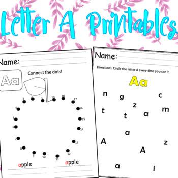 Letter A Printables
