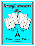 Letter A Reading Discrimination Strips for Fluency and Let