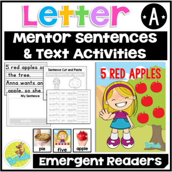 "Letter A Story Book ""5 Red Apples"""