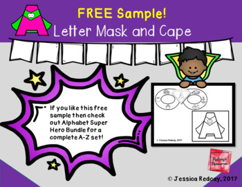 Letter A Super Hero Mask and Cape