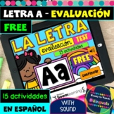 Letter A Test in Spanish - La Letra A - Boom Cards - With Sound