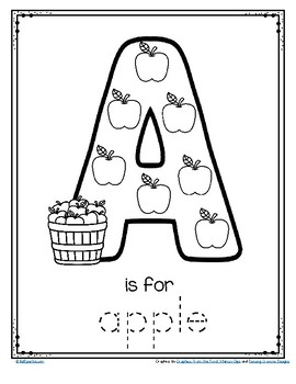 picture relating to Printable Letter a identified as Letter A is for Apple - Hint and Colour Printable Absolutely free