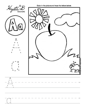 Letter A Trace and Write Worksheet Pack