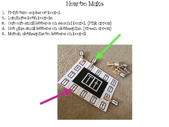 Letter A Uppercase and lowercase fine motor match