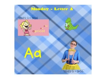 Letter A Videos using Smartboard Notebook