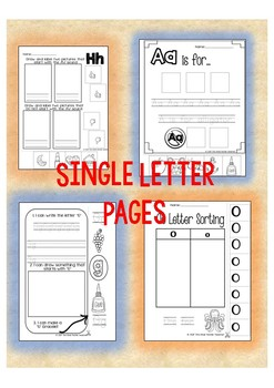 Letter A Week Sorting Bundle
