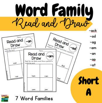 Short A Word Family Read and Draw- Pack 1