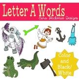 Letter A Words Clipart Set