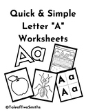 Letter A Worksheet and Activities
