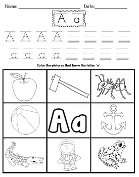 Letter A Worksheets!