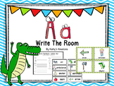 Letter A  Write The Room (FREE)
