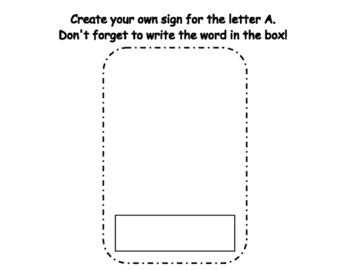 Letter A Write the Room- Includes 3 levels of answer sheets