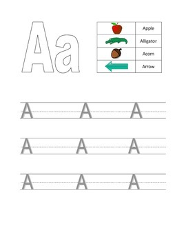 Letter A Writing Practice