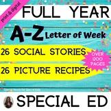 Letter A-Z Complete Bundle Unit for Special Education