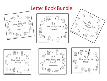 Letter A-Z  Counting Books