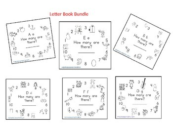 Letter A-Z Counting Books Bundle