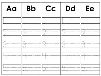 Letter A-Z Practice