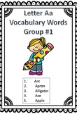 Letter Aa Vocabulary Handouts