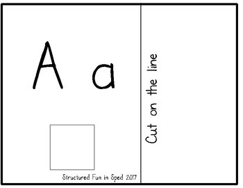 Letter A a Adapted Book for Preschool, Pre-K and Special Needs
