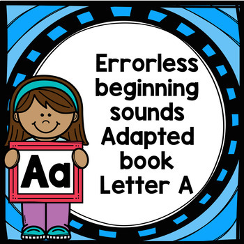 Letter A adapted book errorless learning