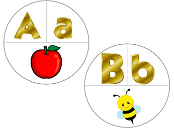 Letter A and B Circle Puzzles